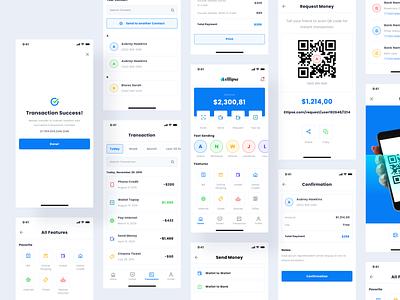 Digital Wallet App wallet app financial save money banking finance app finances bank wallet digital wallet money product design flat minimal interface app design ux ui