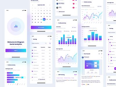 Social Analytic App data managment social socialmedia app design graphic chart analytic dashboard product design web interface app design ux ui