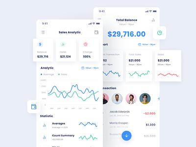 Analytic App ui design management bank finance app design business wallet dashboad analytics product design dashboard website app design ux ui
