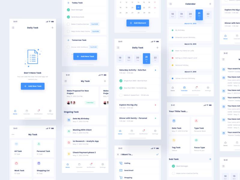 Task App clean education list to do app remind task mobile aplication product design minimal interface web app design ux ui