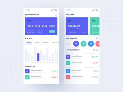 Finance App bank credit card banking financial business application app design wallet finance mobile product design dashboard website flat minimal interface app design ux ui