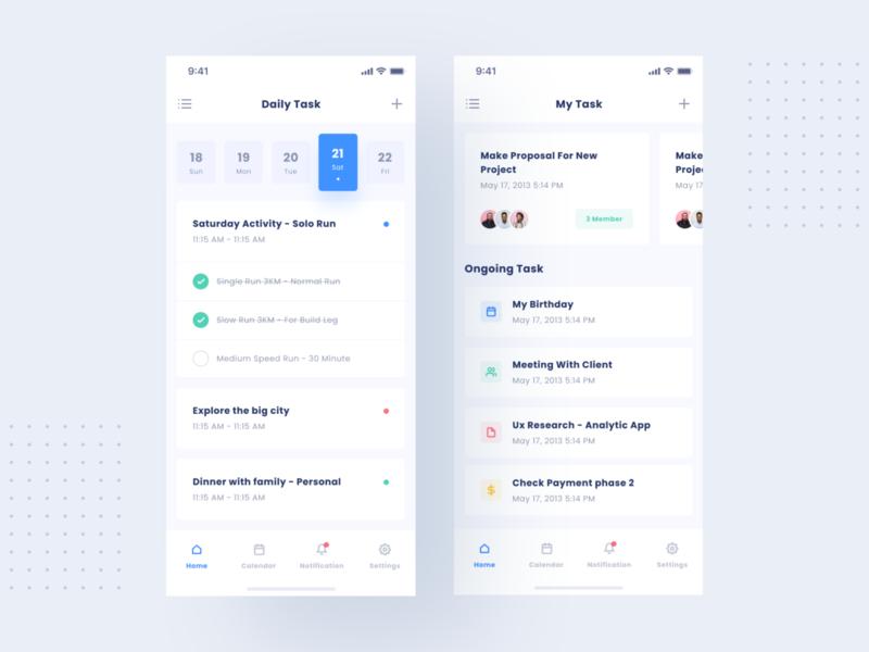 Task App V2 reminder alarm education list to do app task product design minimal interface app design ux ui