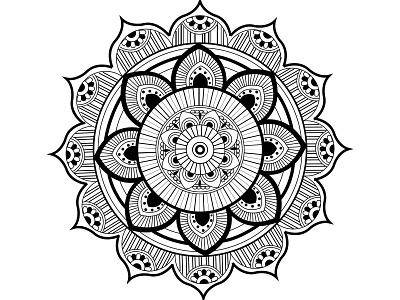 Hello Dribbble black  white focus art mandalas