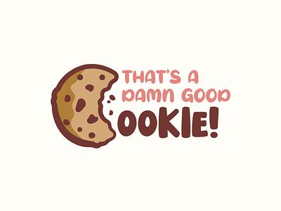 cookie logo bakery vector branding illustration typography art playful logo chocolate design logo cookies cookie