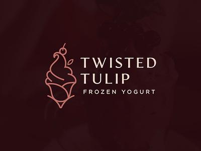 frozen yogurt icecream frozen yogurt icon luxury illustration vector design art logo
