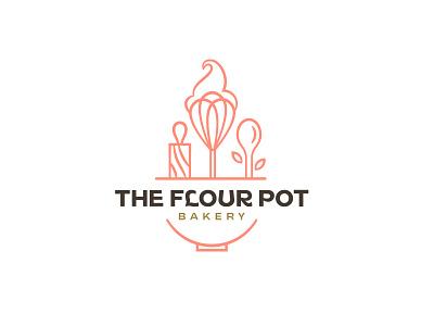 bakery logo pot flour luxury art icon design logo restaurant cafe bakery bake