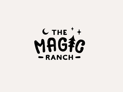 Ranch adventure typography logo design icon magical ranch