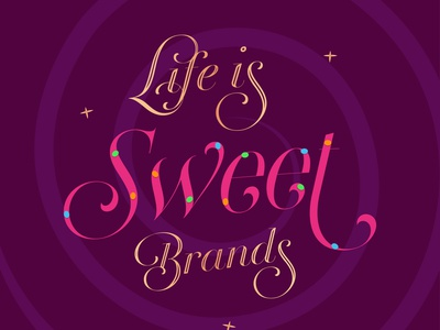 sweet life branding logo design vector typography illustration luxury brand chocolate life candy sweet