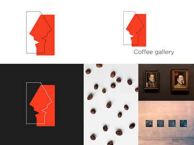 Logotype for Coffee gallery brending graphicdesign hello dribble illustration minimal ui web design branding logo vector