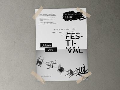 Poster for Art Festival minimal graphicdesign webdesign