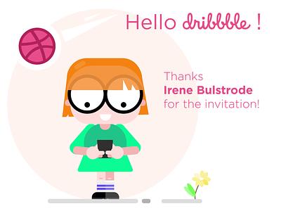 hello dribbble hello dribble branding minimal web icon vector ui design illustration