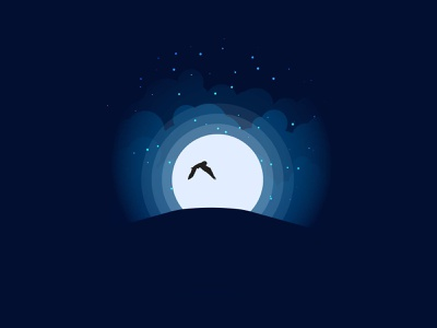 Owl Silhouette illustration vector nepal moon night dark silhouttte owl