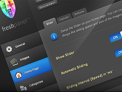 FreshPanel - Theme Options panel for my WordPress themes ui wordpress theme dark theme options blog
