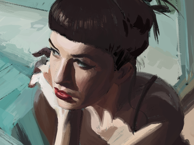 Constance Victoria digital painting illustration