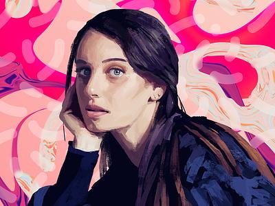 Nina Las Vegas design music illustration digital painting