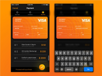 Daily UI Challenge #002 Try 1 002 ios interaction mobile checkout behance dribbble design ux concept ui dailyui