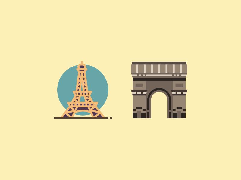 Paris With Love logo cartoon flat design flat vector vinzence studio graphic drawing illustration design icon eiffel paris