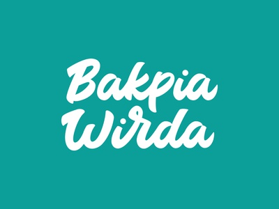 Bakpia Wirda minimal vector typography illustration type logotipo handwriting font handwriten hand crafted typografi flat typogaphy logotype logo lettering design