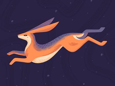 Happy Easter! design bunny rabbit easter eggs illustration procreate purple orange nature hare easter bunny easter