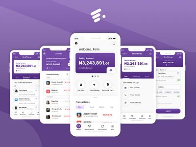 Sending Money with the FairMoney App mobile design mobile app product design productdesign ux ui art design