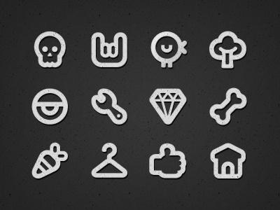 Eyecons icons vector skull diamond bone home rock thick set line food eyecons bold eye like twitter