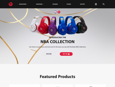 Beats Landing Page by Dre