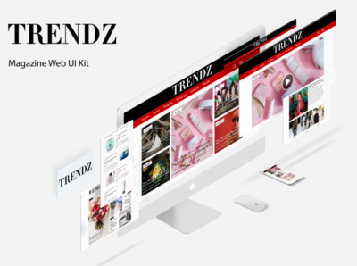 Trends Magazine Web UI Kit