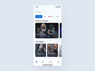 Ticketmaster - Interactions application mobile app mobile redesign events concerts animations interaction design interactions uxdesign uidesign interface ios simple uiux app clean ux ui design