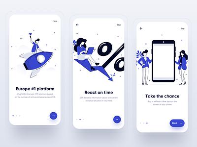 Plus500 redesign concept - onboarding mobile app design app platform market invest finance mobileux mobile ui mobile ios uxdesign uidesign interface simple uiux app clean ux ui design