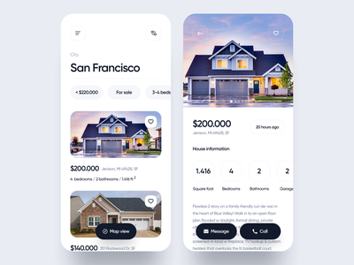 Real Estate app sell house home estate real estate app design ios app ios uxdesign uidesign interface simple uiux app clean ux ui design