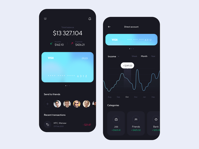 Money Management App money cash design app credit card transfer statistics banking finance app banking app card uxdesign uidesign interface simple uiux app clean ux ui design