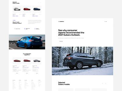 Subaru - website redesign homepage concept redesign subaru dealer cars landing page landing website web uxdesign uidesign simple uiux clean ux ui design