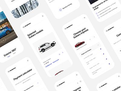 Subaru - Responsive Website responsive design webdesign website concept redesign responsive landing subaru cars car mobile ios uxdesign uidesign simple uiux clean ux ui design