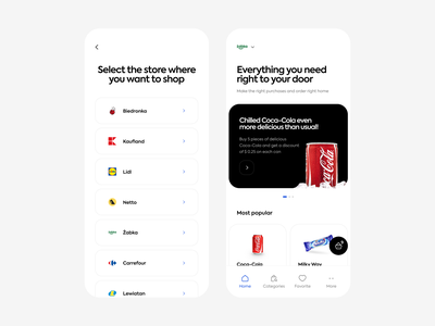 Grocery app shops homepage vegetables fruits store grocery store grocery app grocery ios interface uxdesign uidesign simple app uiux clean ux ui design