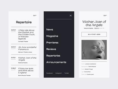 Theater Website Concept - Responsive theater minimalism responsive website concept concept website simple uiux clean ux ui design