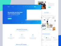 Derro - landing page for a fictitious creative agency