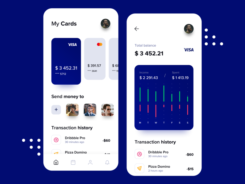 Banking & Finance App card bank app bank finance app finance banking app banking mobile app mobile uxdesign uidesign interface simple ios uiux app clean ui ux design