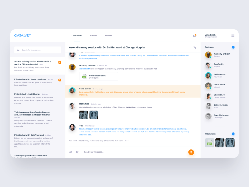 Catalyst redesign concept - Chat room minimal selleo message webapp web chat room chatroom dashboard ui dashboard uxdesign uidesign interface simple uiux app clean ux ui design