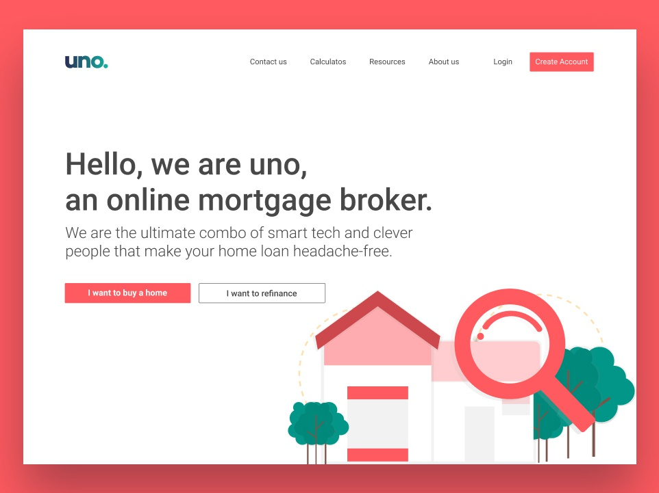 Uno hero redesign home alone homepage home hero banner web site design web site web ux user interface ui user interface landing page landing hero