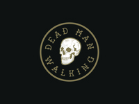Dead Man Walking skulls adobe illustrator illustration design badge graphic design logo vector