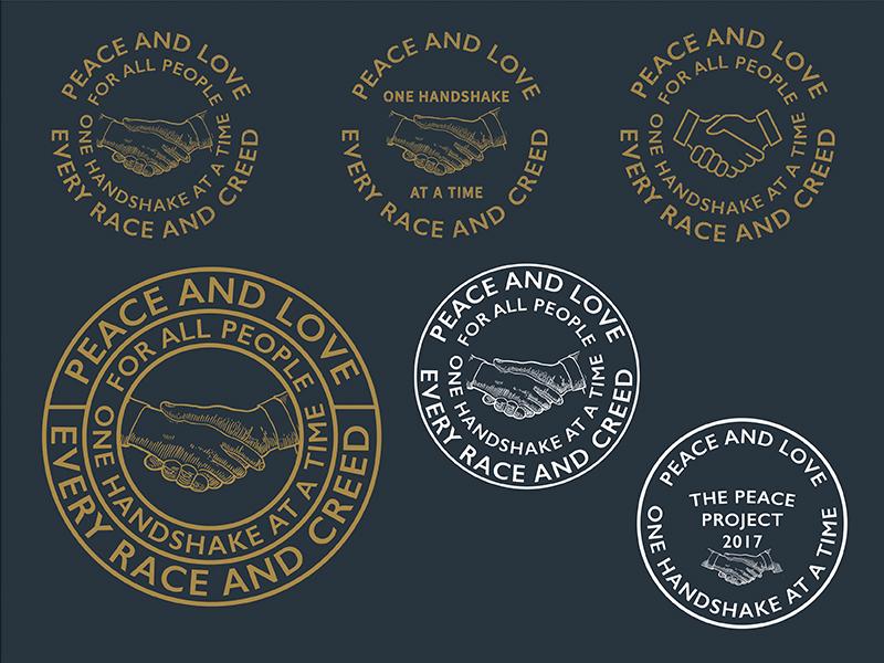 Handshake peace handshake design badge logo