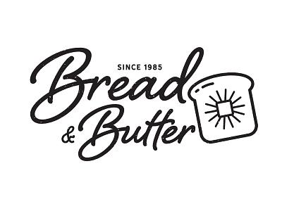 Bread & Butter vector type logo