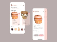 Cami Cakes App Design user interface design cupcake ux design atlanta branding uiux design ui