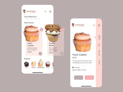 Cami Cakes App Design user interface design cupcake ux design atlanta branding uiux design ui
