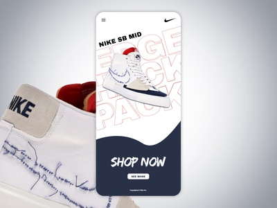Shoes release page concept
