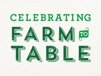 farm to table typography