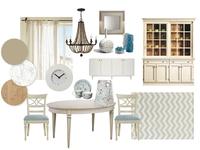 Interior design collage. A dining room. V. 1