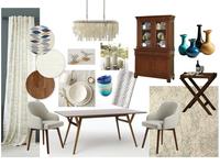 Interior design collage. A dining room. V. 2