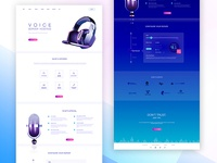 Website for voice server hosting