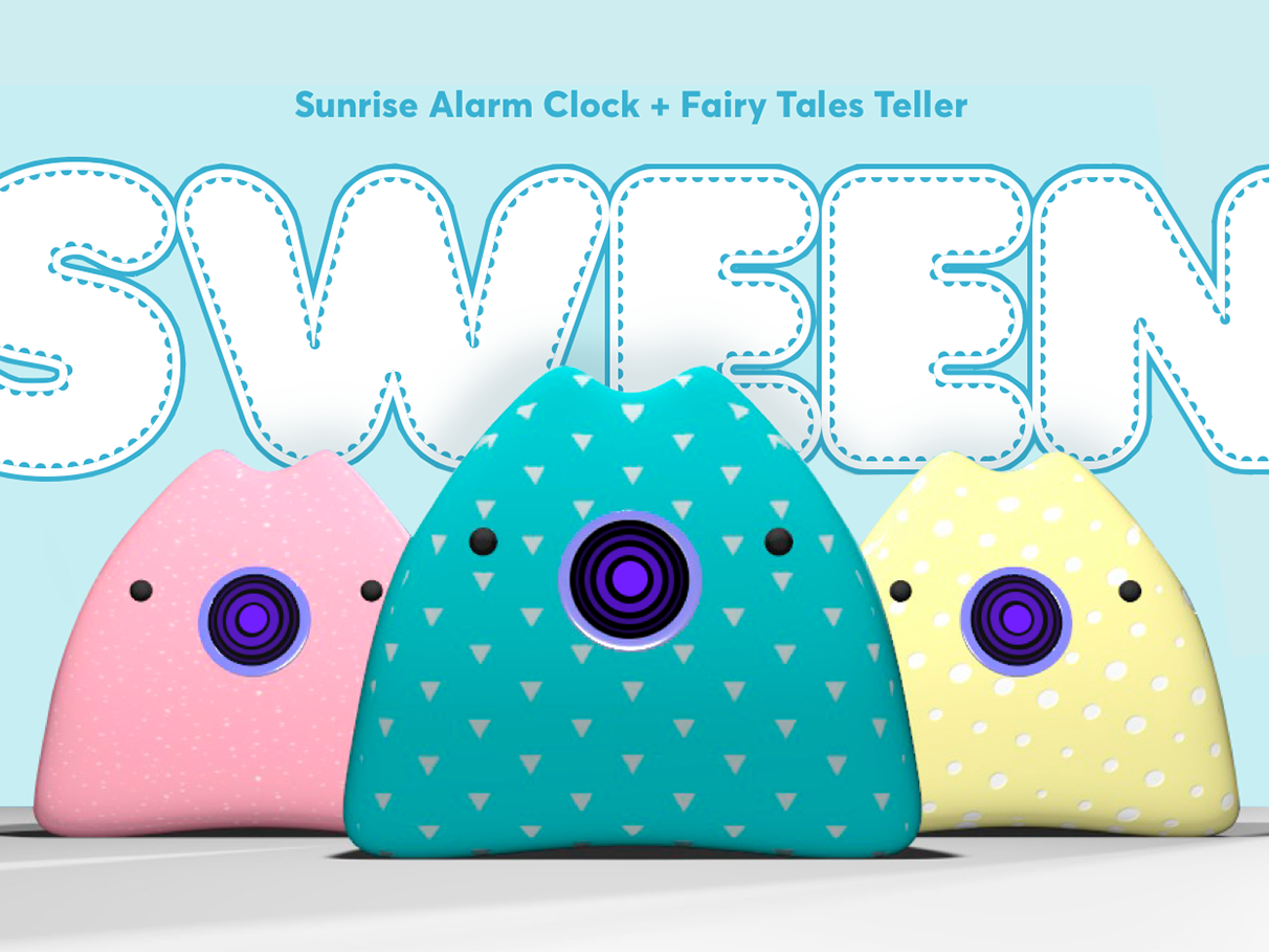 Voice user interface... in piggy 🐷 sunrise alarm alarm clock fairy tales voice interface vui ux ux design behance toy kids voice assistant voice vui